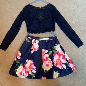 Two piece homecoming/formal dress
